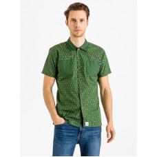 Picture Salmon green pánská košile krátký rukáv - L