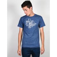 Ride Logo DENIM/HEATHER pánské tričko s krátkým rukávem - S