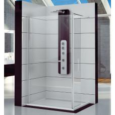 SanSwiss FUD2 0700 50 07 Pevná stěna s krátkou otočnou stěnou 70 cm, aluchrom/sklo