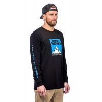 Horsefeathers LEX black pánské tričko s dlouhým rukávem - XL