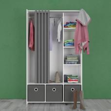 Skříň Kit 93120 bílá/grey - TVI