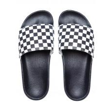 Vans SLIDE-ON (Checkerboard) white pánské pantofle - 39EUR