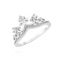 OLIVIE Stříbrný prstýnek KORUNKA 3673 Velikost prstenů: 5 (EU: 47 - 50)
