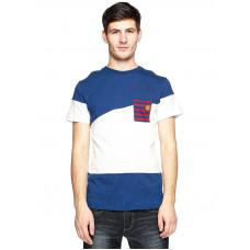 Picture Oxford WHITE/MARINE pánské tričko s krátkým rukávem - XL