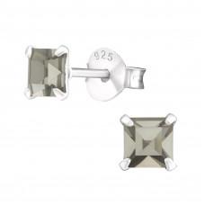 OLIVIE Stříbrné pecky BLACK DIAMOND 4041