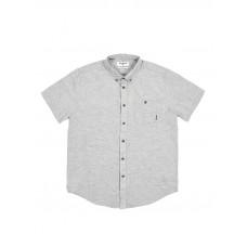 Billabong ALL DAY LIGHT GREY pánská košile krátký rukáv - L