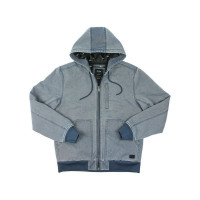 RVCA HOODED CANVAS BOMBER MOODY BLUE jarní bunda pánská - M