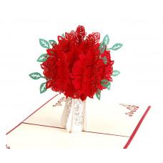 3D přání Váza růží