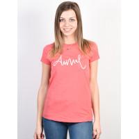 Animal REEL ME IN Calypso Coral Red Marl dámské tričko s krátkým rukávem - 12