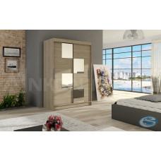 Šatní skříň Miami III s posuvnými dveřmi se zrcadlem - Ank