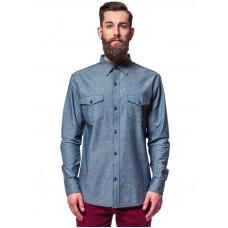 Horsefeathers CITIZEN HEATHER BLUE pánská košile dlouhý rukáv - S