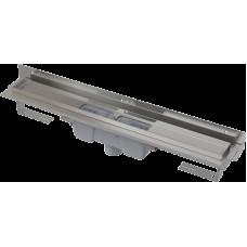 Alcaplast APZ1004-850-FLEXIBLE podlahový žlab ke zdi v.85mm svislý odtok min. 900mm kout (APZ1004-850)
