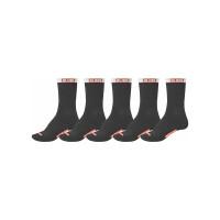 Globe GOODSTOCK CREW 5 PK black moderní barevné pánské ponožky - 7-11