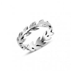 OLIVIE Stříbrný prstýnek LÍSTKY Z RŮŽÍ 3907 Velikost prstenů: 8 (EU: 57 - 58)