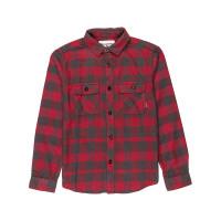 Billabong ALL DAY FLANNEL magenta dětská košile dlouhý rukáv - 10
