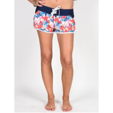 Picture Hawaii DARK BLUE FLOWER dámské plavecké šortky - XS