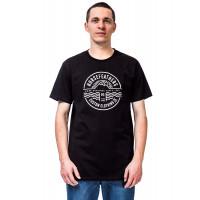 Horsefeathers VALE black pánské tričko s krátkým rukávem - XL