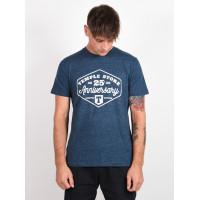 Temple TEMPLE 25 ANNIVERSAR DARK HTR DENIM pánské tričko s krátkým rukávem - XXL
