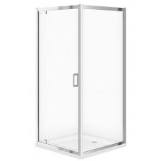 CERSANIT - Sprchový kout ARTECO čtverec 90x190, kyvný, čiré sklo (S157-010)