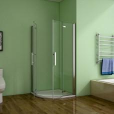 Čtvrtkruhový sprchový kout MELODY S4 80 cm s dvoukřídlými dveřmi