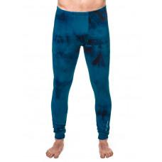 Horsefeathers SILAS PANT blue batik pánské thermo prádlo - M