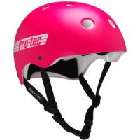 Pro Tec CLASSIC SK8/BIKE SATIN PINK RETR skate board přilba - L