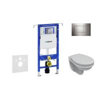 Geberit Sada pro závěsné WC + klozet a sedátko Ideal Standard Quarzo - sada s tlačítkem Sigma30, lesklý/matný/lesklý chrom 111.355.00.5 NR6