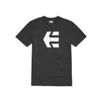 Etnies Icon black/white pánské tričko s krátkým rukávem - L