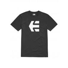 Etnies Icon black/white pánské tričko s krátkým rukávem - XL