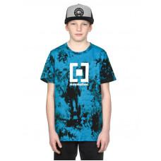 Horsefeathers BASE BLUE TIE DYE dětské tričko s krátkým rukávem - L