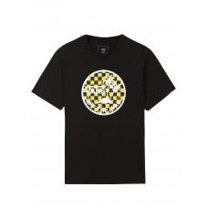 Vans DUAL PALM LOGO FILL BLACK/SULPHUR dětské tričko s krátkým rukávem - L