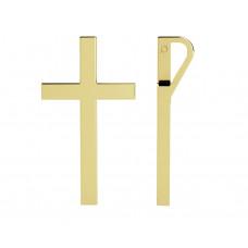 Zlato Zlatý dámský přívěsek Kříž 6820617