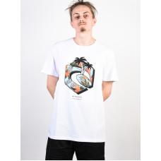 Rip Curl GANG PARADISE OPTICAL WHITE pánské tričko s krátkým rukávem - S