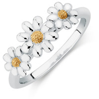 OLIVIE Dětský květinový prstýnek ze stříbra 4713
