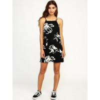 RVCA CHOPPED black společenské šaty krátké - M