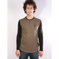 Altamont SPANSIVE HENLEY GREEN/BLACK pánské tričko s krátkým rukávem - L