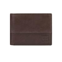 Quiksilver DEEPLINE chocolate brown luxusní pánská peněženka - M