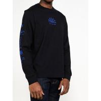 RVCA VISION FLASH black pánské tričko s dlouhým rukávem - M