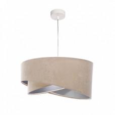 Závěsné svítidlo Awena, béžová + stříbrný vnitřek