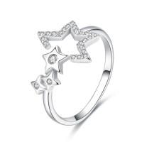 OLIVIE Nastavitelný stříbrný prsten HVĚZDY 3390
