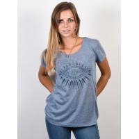Rip Curl CHAATI flint stone dámské tričko s krátkým rukávem - S