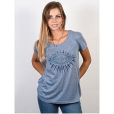 Rip Curl CHAATI flint stone dámské tričko s krátkým rukávem - L