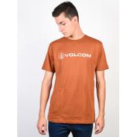 Volcom Line Euro COPPER pánské tričko s krátkým rukávem - S