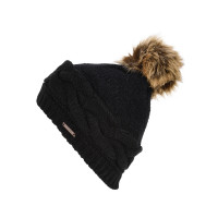 ROJO PLUSH TOP TRUE BLACK dámská zimní čepice