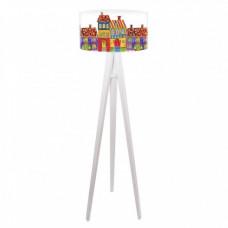 Dětská stojací lampa Fabulous tenement houses + bílý vnitřek + bílé nohy