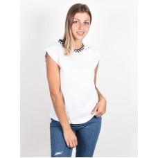 Vans BLENDER BENDER MUSCL white dámské tričko s krátkým rukávem - L