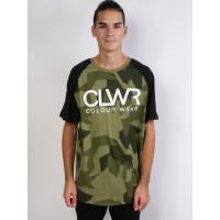 Colour Wear TTR JERSEY ASYMMETRIC LODEN pánské tričko s krátkým rukávem - S