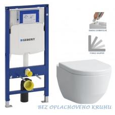 GEBERIT - SET Duofix pro závěsné WC 111.300.00.5 bez ovládací desky + WC LAUFEN PRO RIMLESS + SEDÁTKO (111.300.00.5 LP1)