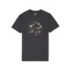 Billabong X-CESS BLACK HEATHER pánské tričko s krátkým rukávem - M