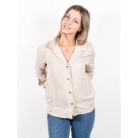 RVCA OATS BUTTON UP OATMEAL dámská košile dlouhý rukáv - S